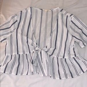 Striped tie shirt